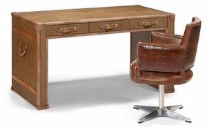 Worn Marquee Leather Desk