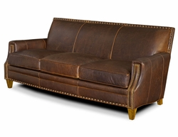 American Naturals Leather Sofa with Nailheads
