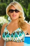 Women's Plus Size Swimwear - Captiva Separates Waterfall Effect Bikini Top