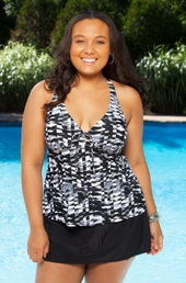 Plus Size Swimwear Always 4 Me Blanca 2 Pc Skirtini