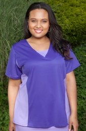 Plus Size Activewear - Always For Me Active Color Block Tee Shirt