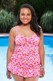 Women's Plus Size Swimwear Always For Me Chic Prints Chatham Tankini