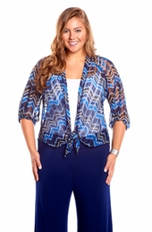 Always For Me Chevron Plus Size Cover Up Jacket
