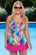 Plus Size Swimwear Always For Me Chic Prints Santana tankini
