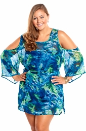 Always For Me Cold Shoulder Plus Size Cover Up