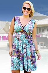 Always For Me Cover Kaleidoscope Surplice Plus Size Dress