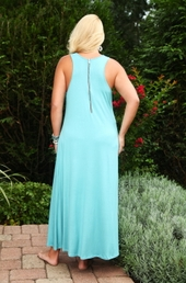 Always For Me Cover Long Zip Back Jersey Dress - Back View - ONLY $24