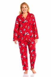 Always For Me Flannel Plus Size Pajamas
