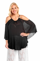 Always For Me Flirty Plus Size Cover Up Top