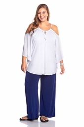 Always For Me Flirty Plus Size Cover Up Top - White $39