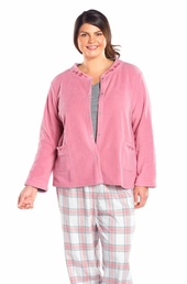 Always For Me Mock Collar Plus Size Bed Jacket