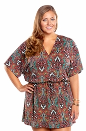 Always For Me Moroccan Sunset Plus Size Cover Up