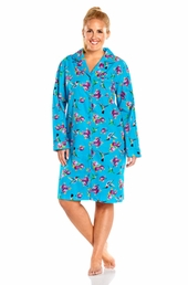 Always For Me Notched Collar Plus Size Nightshirt