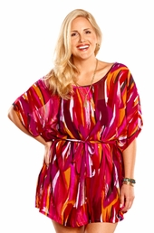 Always For Me Paprika Sky Plus Size Cover Up