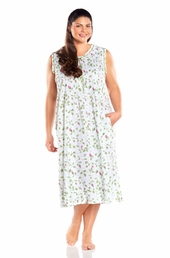 Always For Me Pintucked Sleeveless Plus Size Nightgown