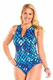 Always For Me Plus Size Harbor Point 1 Piece Swimsuit