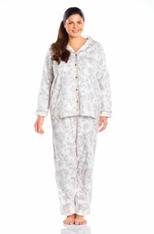 Always For Me Notched Collar Plus Size Pajamas