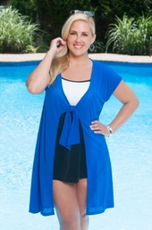 Plus Size Cover Ups Always For Me Cover Tie Front Cover Up