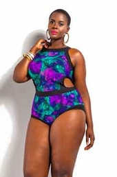 Plus Size Swimsuit Monif C Cabo 1 Pc Print Monokini - Snake $49