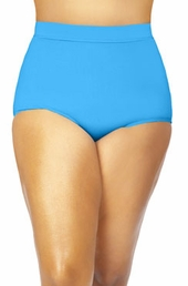 Plus Size Swimwear Monif C Separates Sao Paulo Hi Waist Bikini Bottoms - Turq $26.60