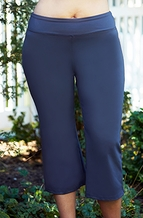 Women's Plus Size Activewear - Always For Me Active Micro Poly Capri #A1224 - Gray $49