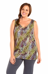 Plus Size Activewear Always For Me Active Printed Textured Tank