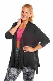 Plus Size Activewear Marika Curve Plus Camille Shark Bite Cardigan