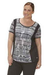 Plus Size Activewear Marika Curve Plus Jessica Tie Dye Short Sleeve Shirt