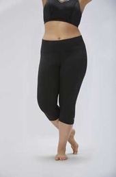 Plus Size Activewear Marika Curve Plus Slimming High Rise Capri