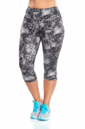 Plus Size Activewear Marika Curves Plus Printed Capri Legging