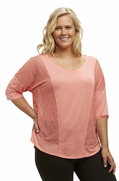 Plus Size Activewear Marika Curves Plus Whirlwind Layering Top