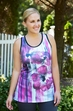 Plus Size - Always For Me Active Floral Racer Back Tank #8152