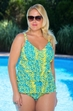 Plus Size Always For Me Chic Prints Tidal Wave 2 Pc Swimsuit