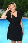 Always For Me Cover Solid Wrap Plus Size Dress