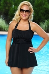 Plus Size Always For Me In Control Salem 2 Pc Swimdress w/ High Waist Brief