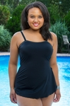 Women's Plus Size Swimwear - Always 4 Me Crystal Sarong Bandeau Swimsuit #8009