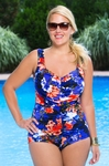 Plus Size Swimwear -  Maxine Island Love Chlorine Reistant 1 Pc Swimsuit