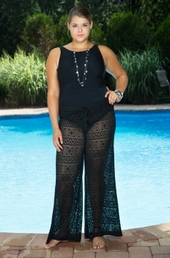 Plus Size Cover Ups Always For Me Cover Aztec Crochet Pants