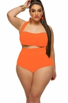 Women's Plus Size Swimwear - Monif C Plus Sao Paulo Underwire Bikini Top ONLY