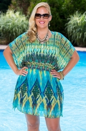Plus Size Cover Ups Always For Me Cover Desert Sky Chiffon Tunic