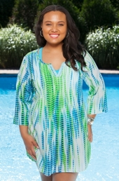 Plus Size Cover Ups Always For Me Cover Adjustable Sleeve Tunic