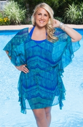 Plus Size Cover Ups Always For Me Cover Butterfly Sleeve Tunic