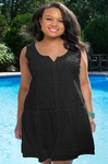 Women's Plus Size Cover Ups - Always For Me Cover Daisy Embroidered Dress