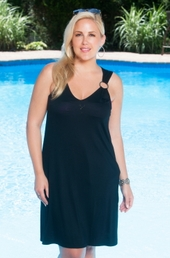 Plus Size Cover Ups - Always For Me Cover Double Ring Dress