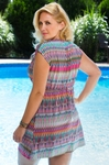 Women's Plus Size Cover Ups - Always For Me Cover Front Crossover Tunic #6368X