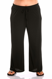 Always For Me Solid Plus Size Lounge Pant #16186SP - Black $39