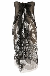 Plus Size Cover Ups - Always For Me Cover Palm Tree Pareo