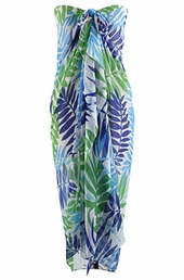 Plus Size Cover Ups - Always For Me Cover Tropical Palm Pareo