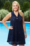 Plus Size Cover Ups - Always For Me Cover Zig Zag Embossed Tunic