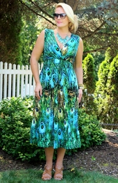 Women's Plus Size Cover Ups - Always For Me Cover Peacock Dress #2588X